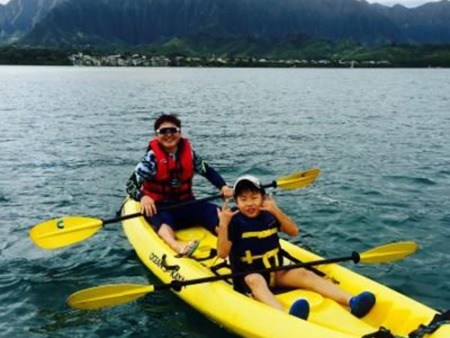 Kayak rentals Hawaii Father Son