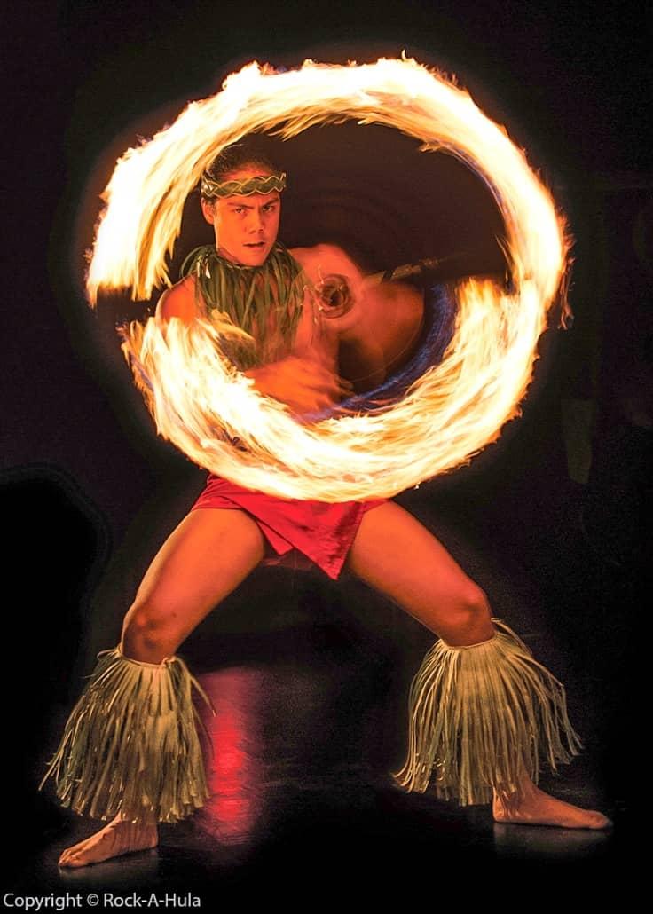 Fire Knife Dancer Luau Star of Honolulu Paradise Cruises Image