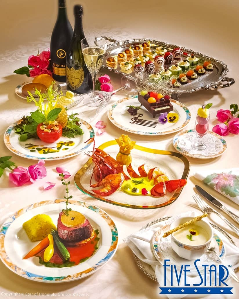 Five Star Food on Star of Honolulu by Paradise Cruises