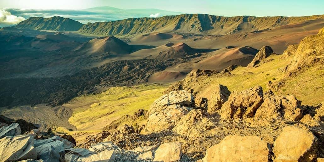 Haleakala Crater Kahuku Lookout