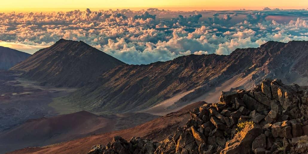 Haleakala Crater Sunrise Kahuku Overlook