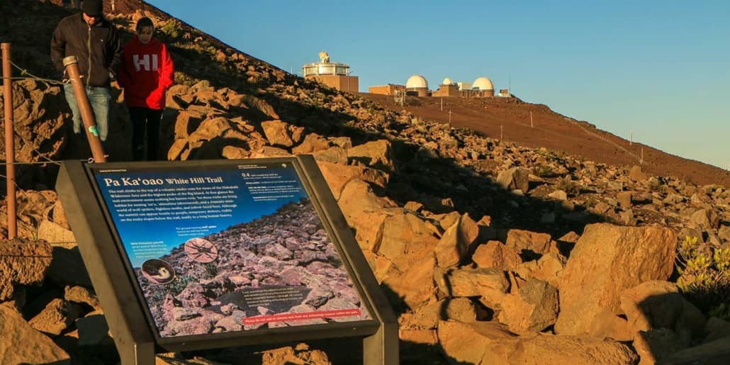 Haleakala Crater Sunrise Observatory & Trail Sign