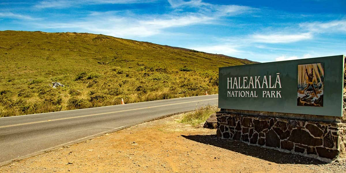 Haleakala National Park Entrance Sign