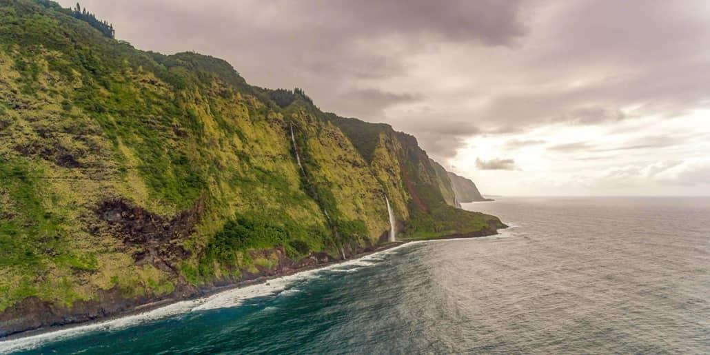 Hamakua Coast Aerial Big Island