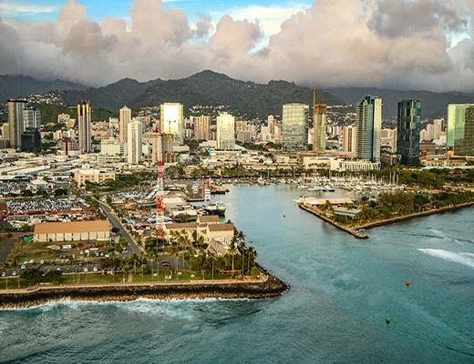 Honolulu Harbor Aerial
