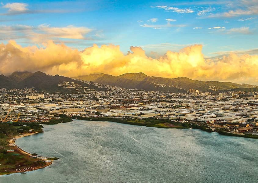 Honolulu Sunset Aerial Helicopter 1200x600
