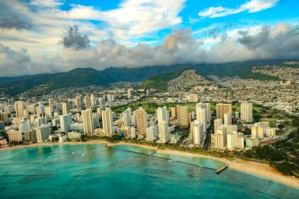 Honolulu Waikiki Beach Aerial Oahu