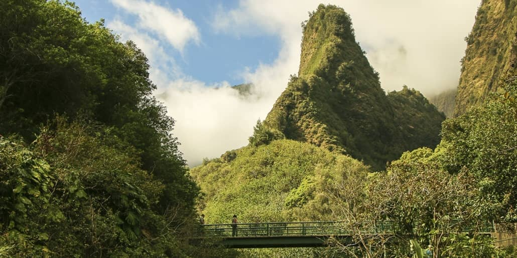 Iao Valley Needle and Bridge visitors