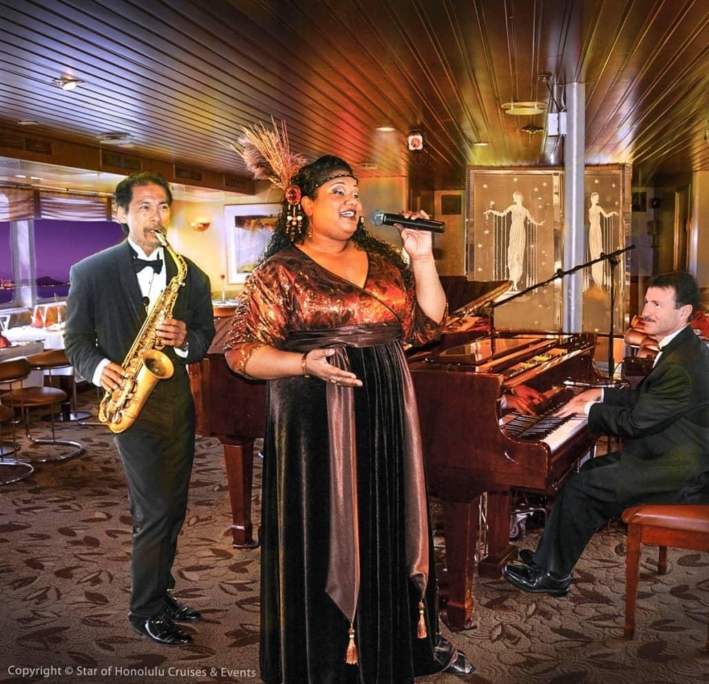 Jazz Entertainers Star of Honolulu Paradise Cruises Image
