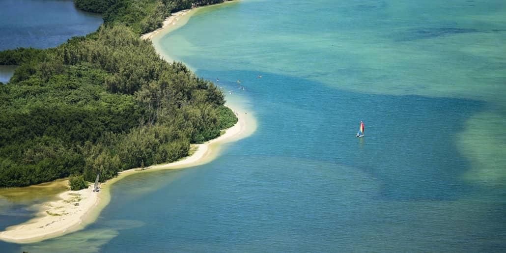 Kaneohe Bay Beach Boat Sailing Oahu shutterstock