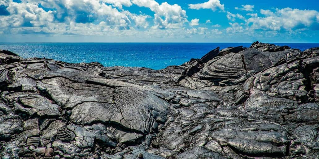 Lava and Ocean Big Island Kona Hawaii