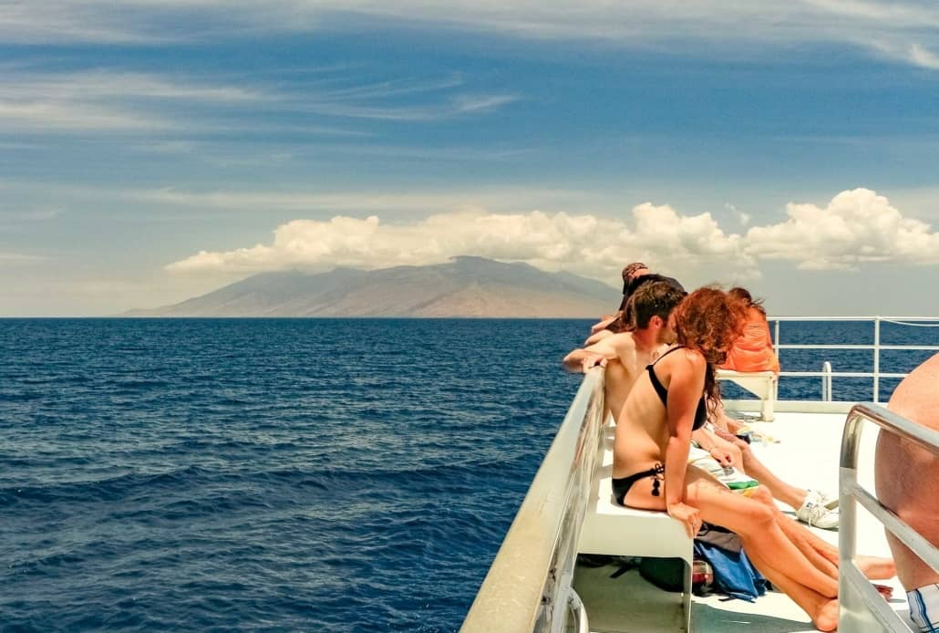 Maui Snorkel Boat Deck and Visitors Maui