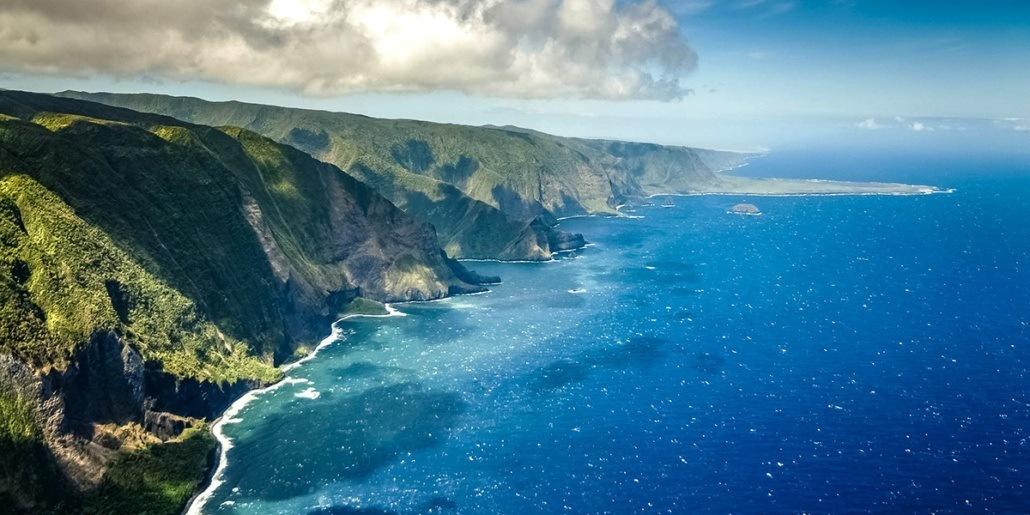 Molokai Coastline Aerial