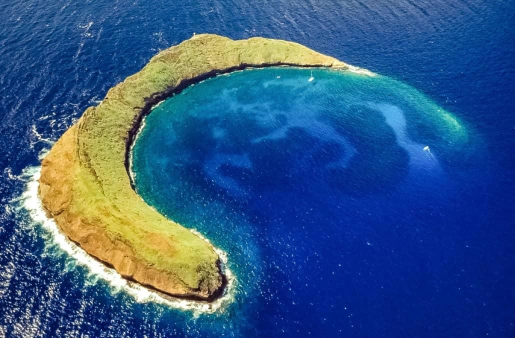 Molokini Crater Aerial Maui