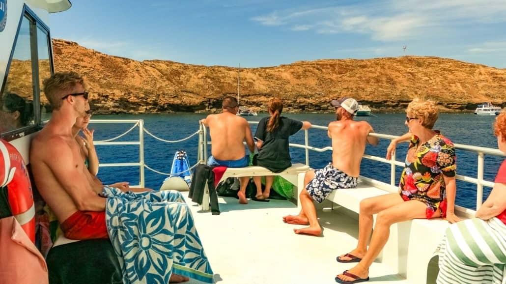 Molokini Snorkel Boat Visitors Deck Maui