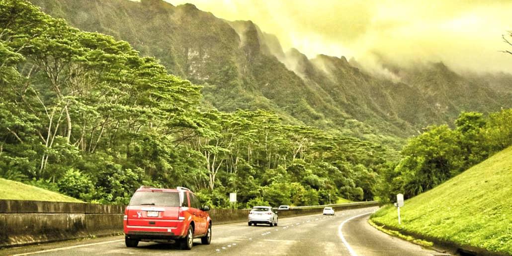 OahuH HighwaytoPaliTunnelKoolauMountainsx