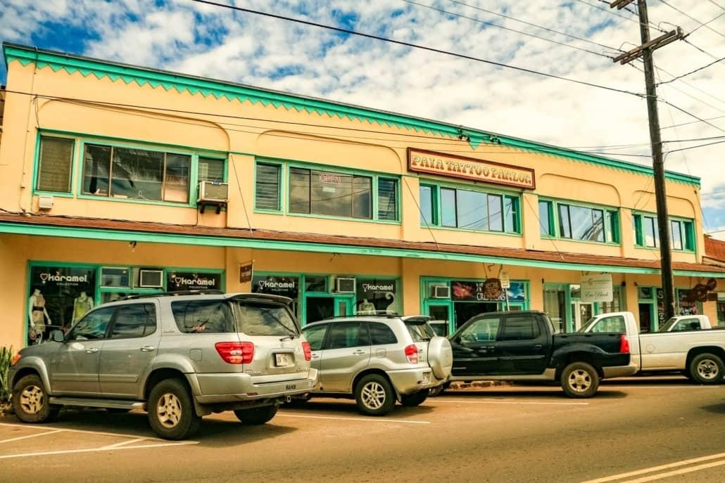 Paia Town Building on Hana Highway Maui