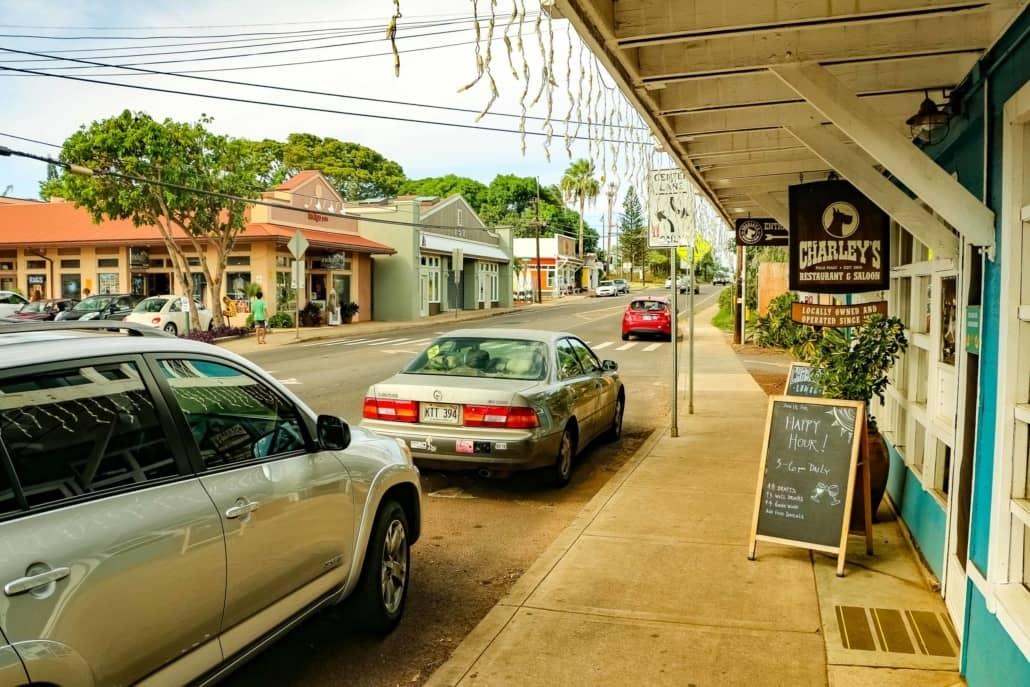 Paia Town Charlies Restaurant Exterior Maui