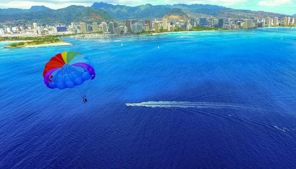 Parasail Boat and Parachute off Waikiki Oahu