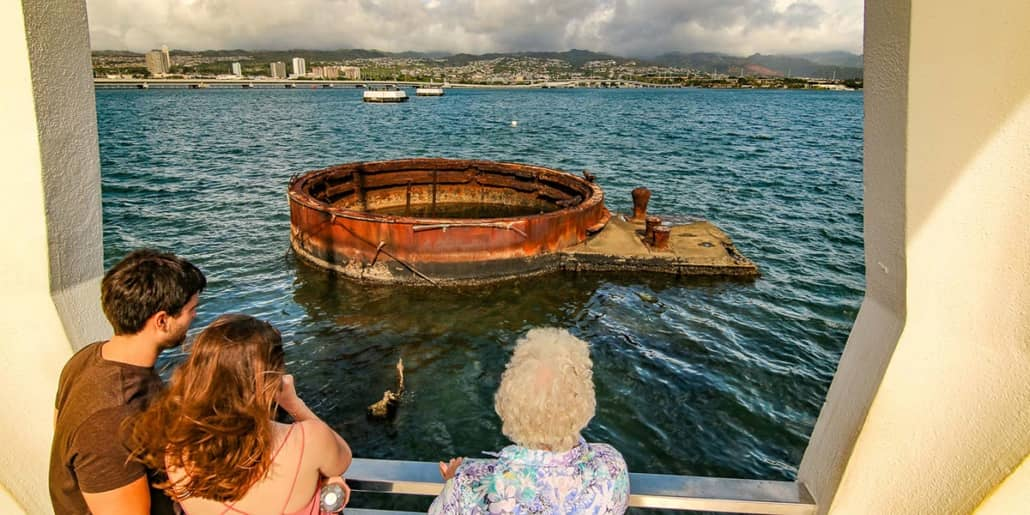 Pearl Harbor Arizona Memorial Visitors View Turret