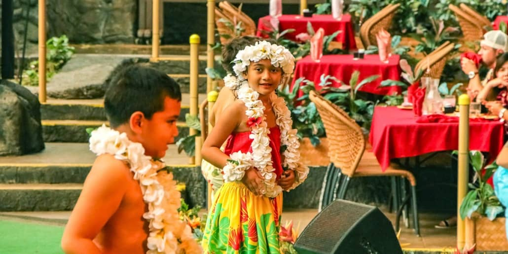 Polynesian Cultural Center Alii Luau Show Children