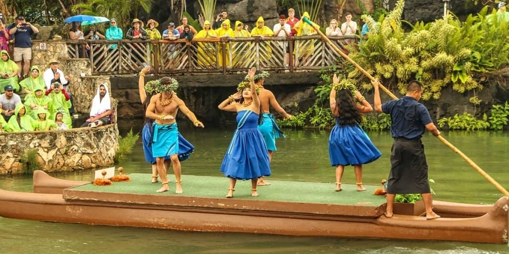 Polynesian Cultural Center Hula Dancers Parade of Canoes Show