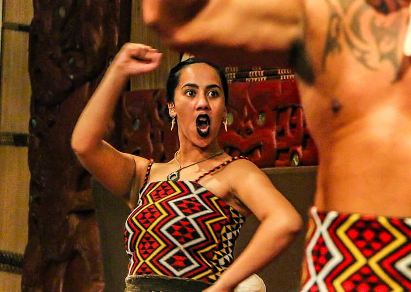 Polynesian Cultural Center Moari Woman Haka Performer