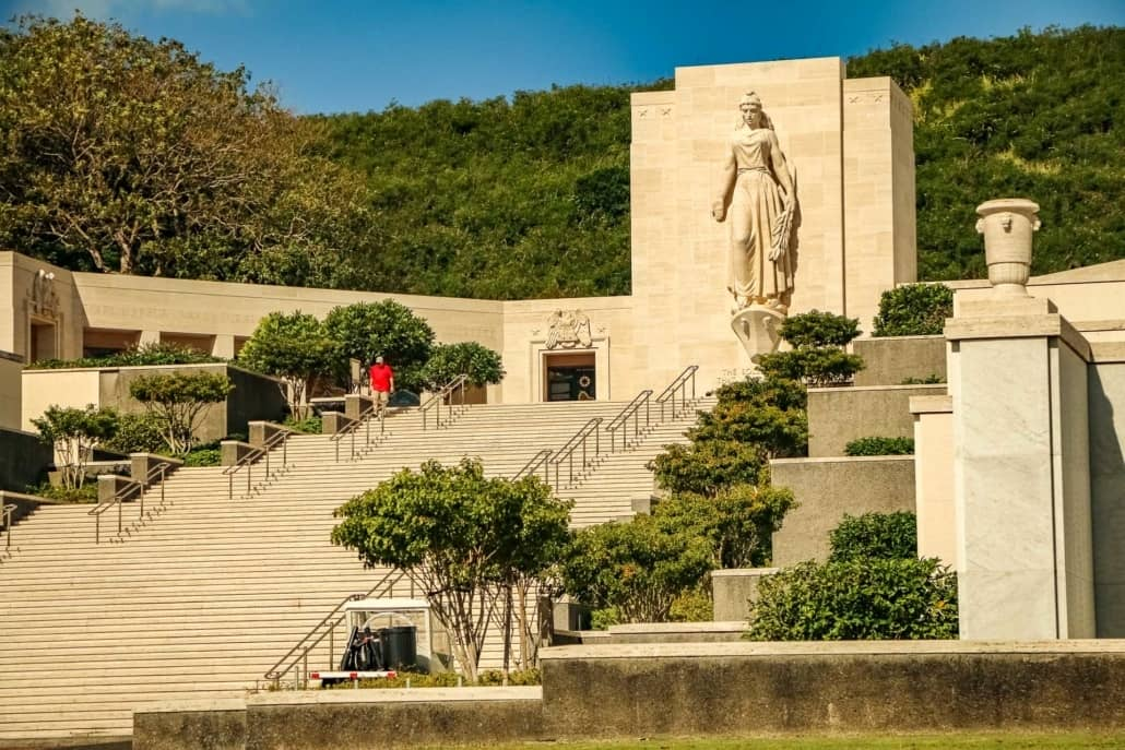 Punchbowl Cemetery Memorial Steps