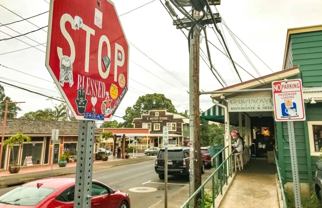 Stop Sign Makawao Maui