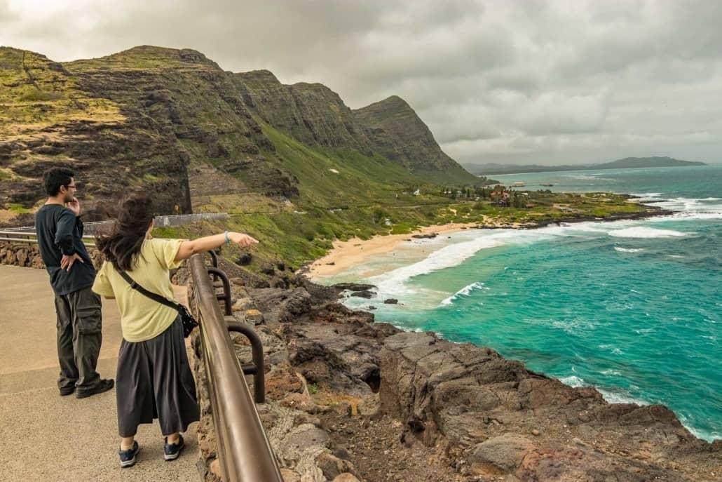 Waimanalo Overlook Visitors Oahu