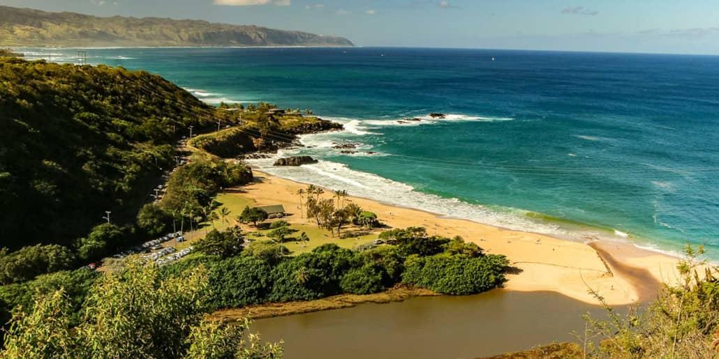 Waimea Beach From Above North Shore Oahu