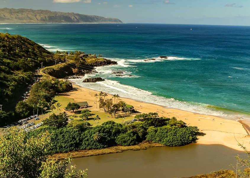 Waimea Beach From Above North Shore Oahu