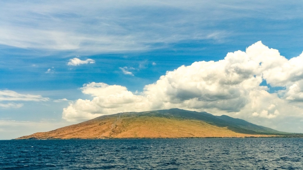 West Maui Mountains View from Boat