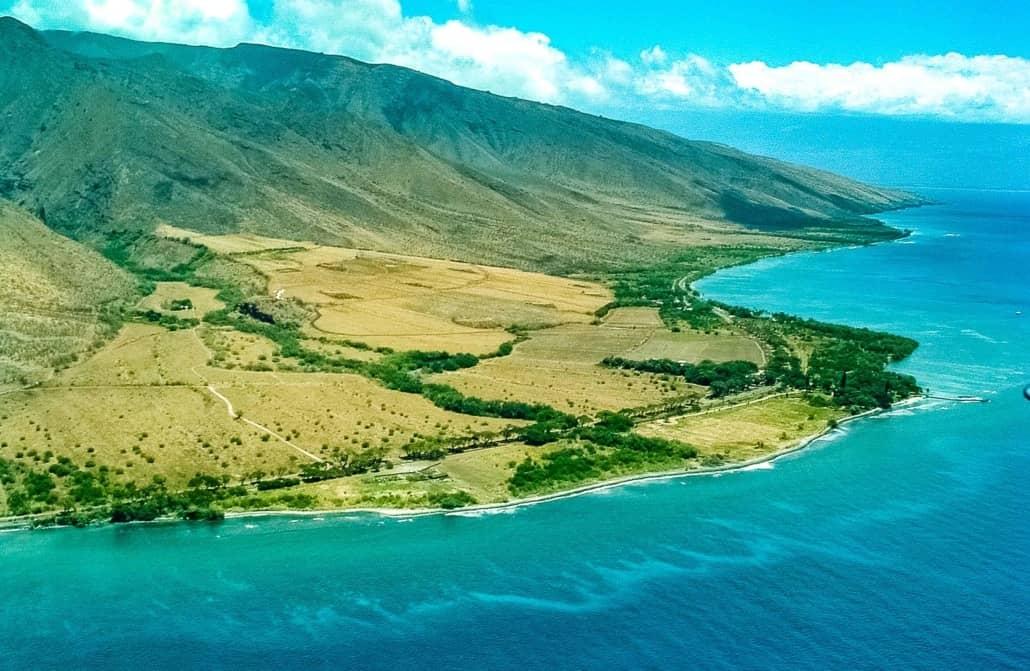 West Maui Olowalu Reef Aerial Maui