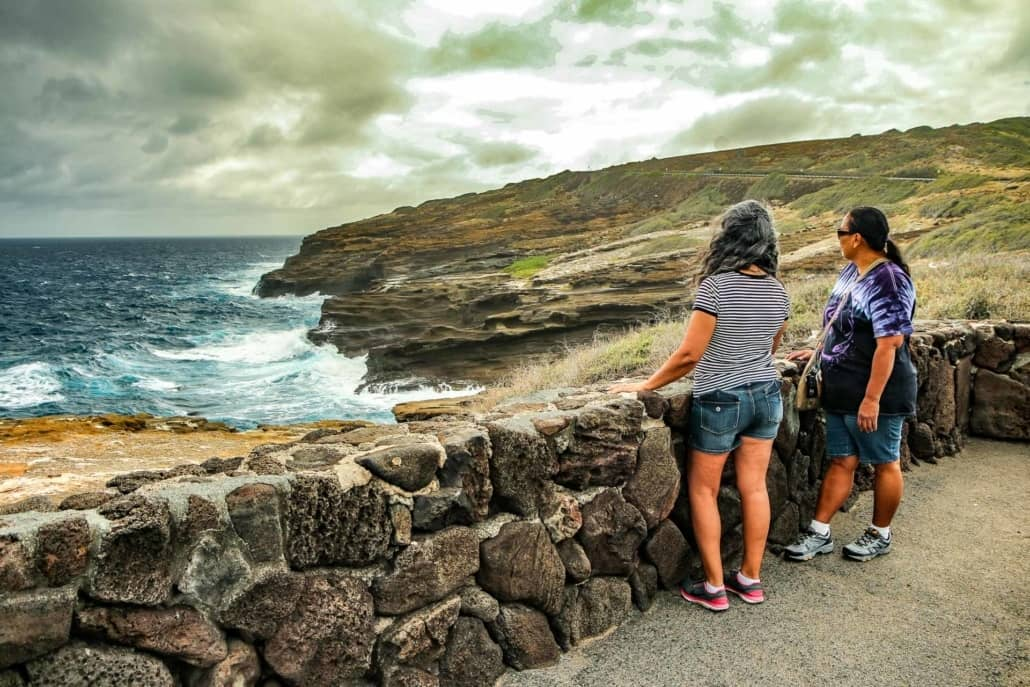 Windward Pali Coastline Visitors Overlook Oahu