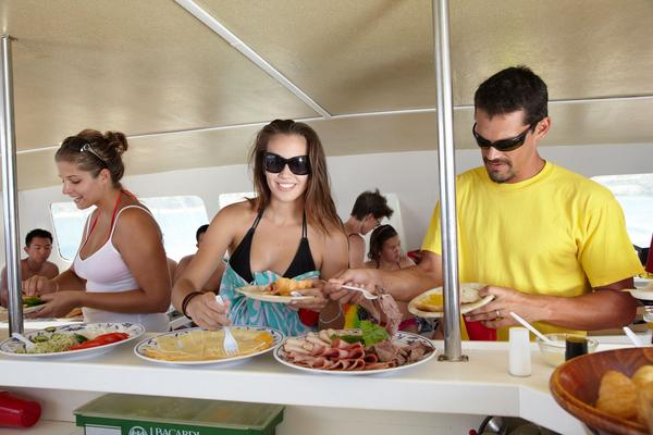 Turtle Gauranteed Snorkel Sail Couple Buffet