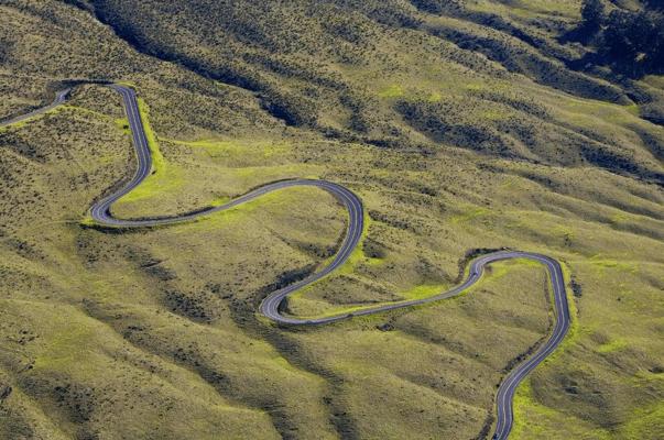 Crater Road Aerial Haleakala Maui