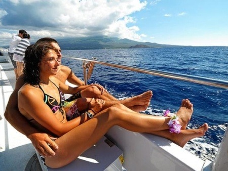 Couple on Deck Snorkel Boat Maui
