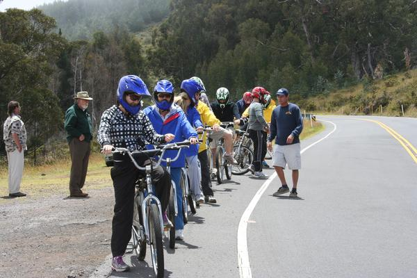 Haleakala Bike down a Volcano riders