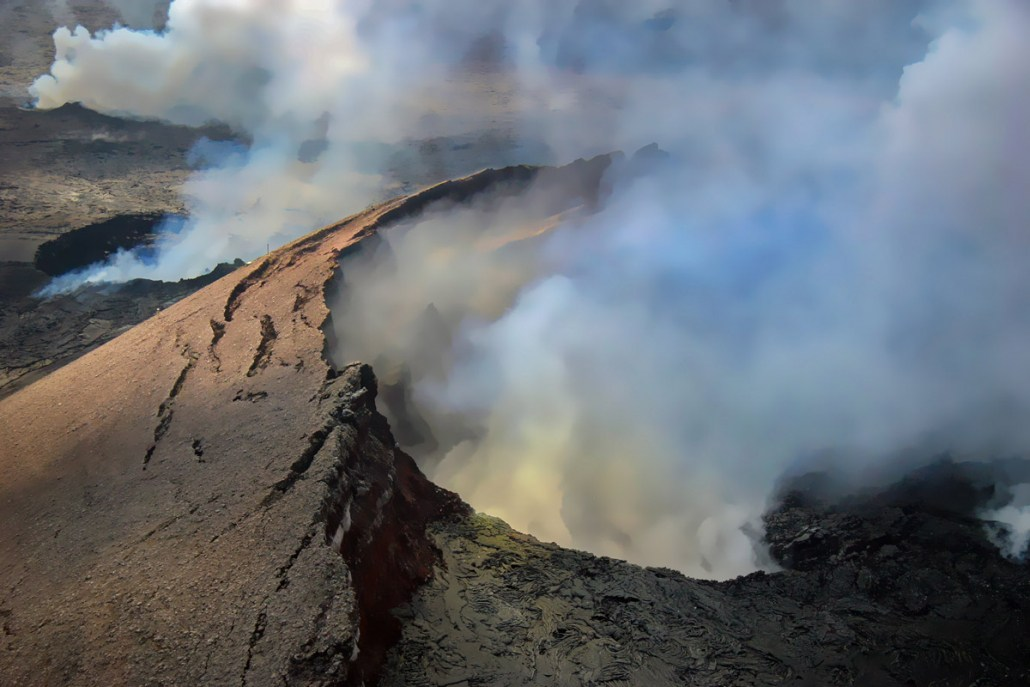 Big Island Helicopter Lava Flows