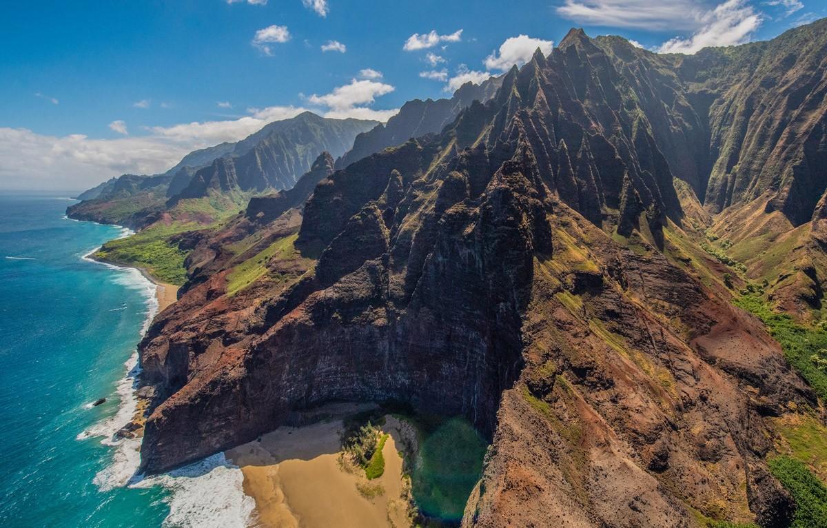 Kauai Helicopter Sea Cliffs