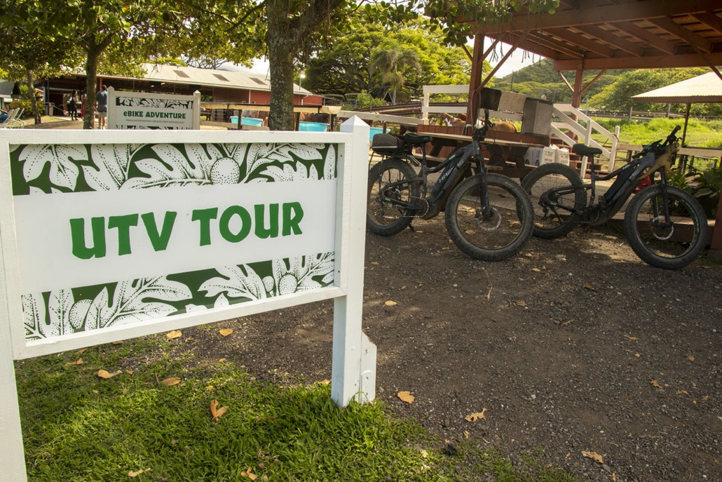 Kualoa Ranch UTV Sign