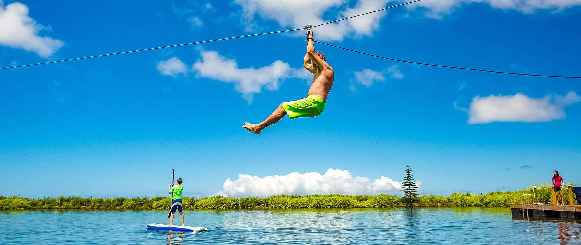Kaanapali Zipline Pond and SUP