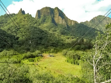 Dual Ziplines and Mountains Oahu Kualoa Ranch Photo 1200x600