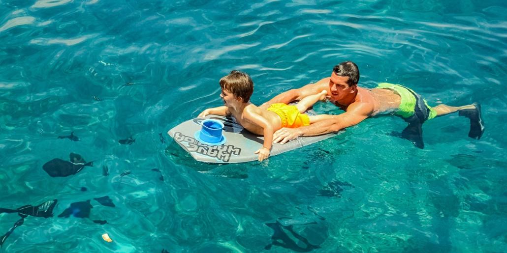 Fair Wind Snorkel Boy and Dad Ocean