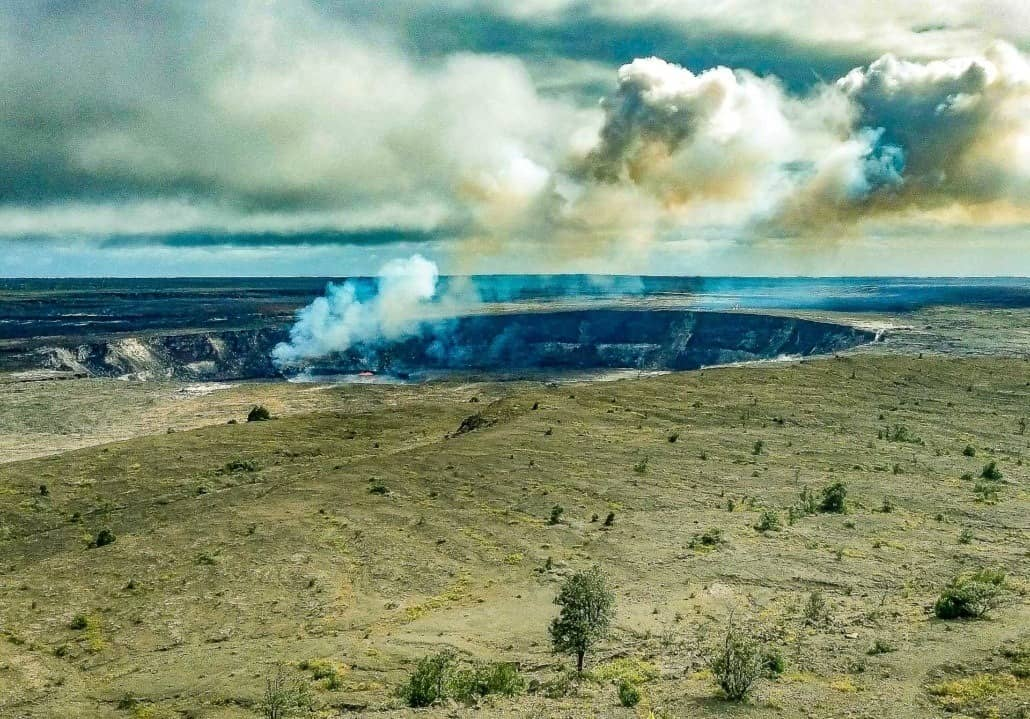 Halemaumau Crater Volcano National Park Big Island by Kathleen Anderson