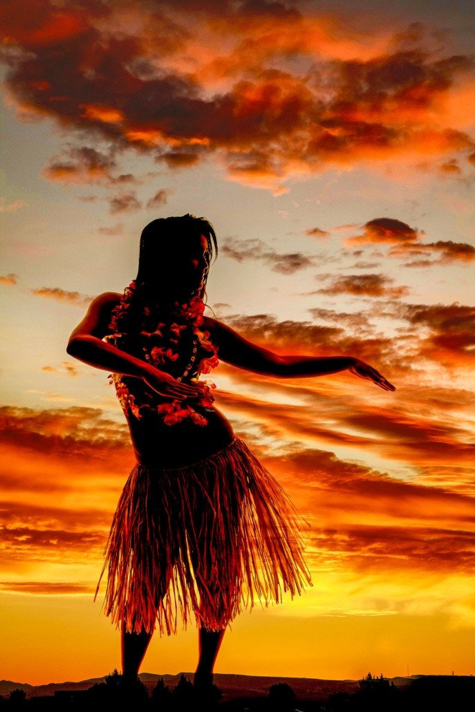 Hula dancer at Sunset Luau shutterstock