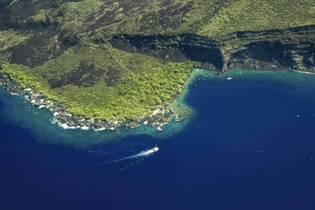 Captain Cook Snorkel Tour Kealakekua Bay Aerial Big Island