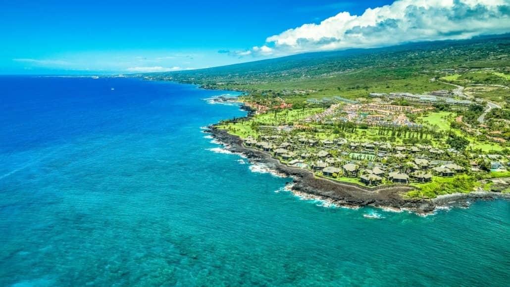 Kona Coast Aerial Resorts Waikoloa Big Island shutterstock_1081648670