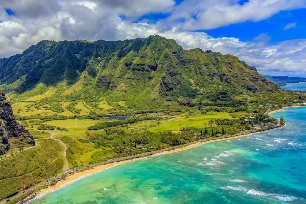 Kualoa Ranch Aerial Oahu shutterstock